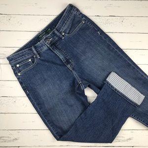 Lauren Ralph Lauren Cuffed Crop Jeans Size 10